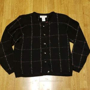 Vintage Talbots 100% cotton cardigan sz med